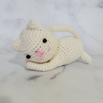 Kitty Plush Toy in White - 4 Inches