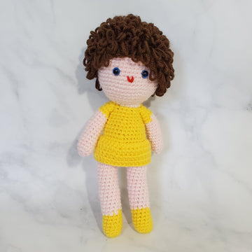 Doll Girl with Curly Hair (A) - 10 Inch