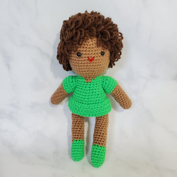 Doll Girl with Curly Hair (B) - 10 Inch