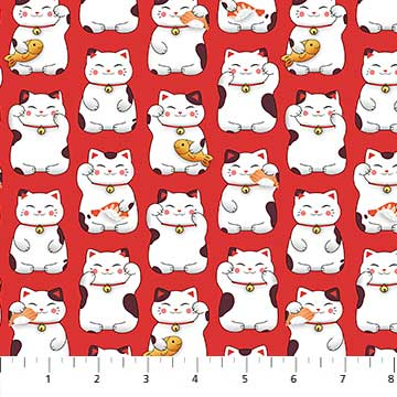 Sushi - Lucky Cats in Red