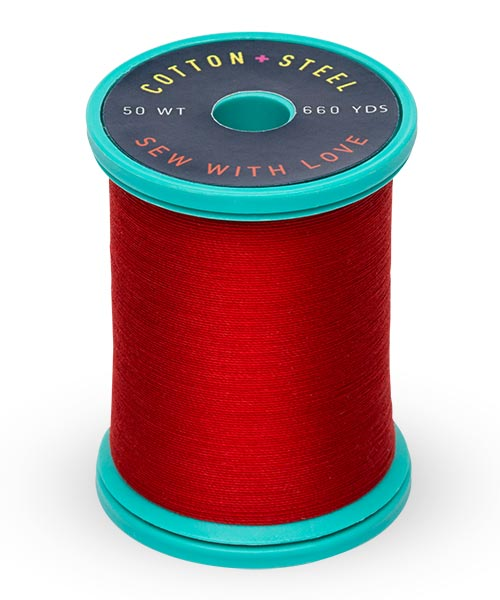 50wt Cotton Thread Spool - True Red