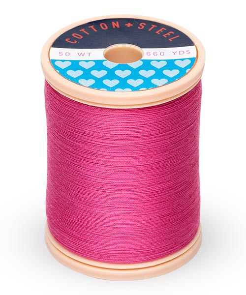 50wt Cotton Thread Spool - Hot Pink