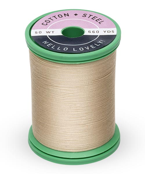 50wt Cotton Thread Spool - Deep Ecru