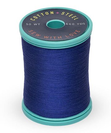 50wt Cotton Thread Spool - Deep Nassau Blue