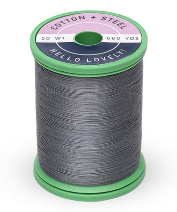 50wt Cotton Thread Spool - Dark Nickel Gray