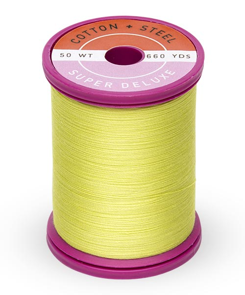 50wt Cotton Thread Spool - Neon Yellow