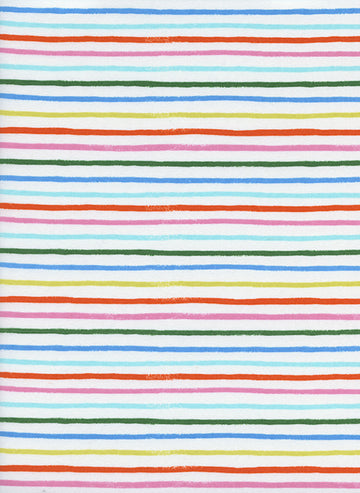 Amalfi - Happy Stripes in Cream | Cotton Lawn