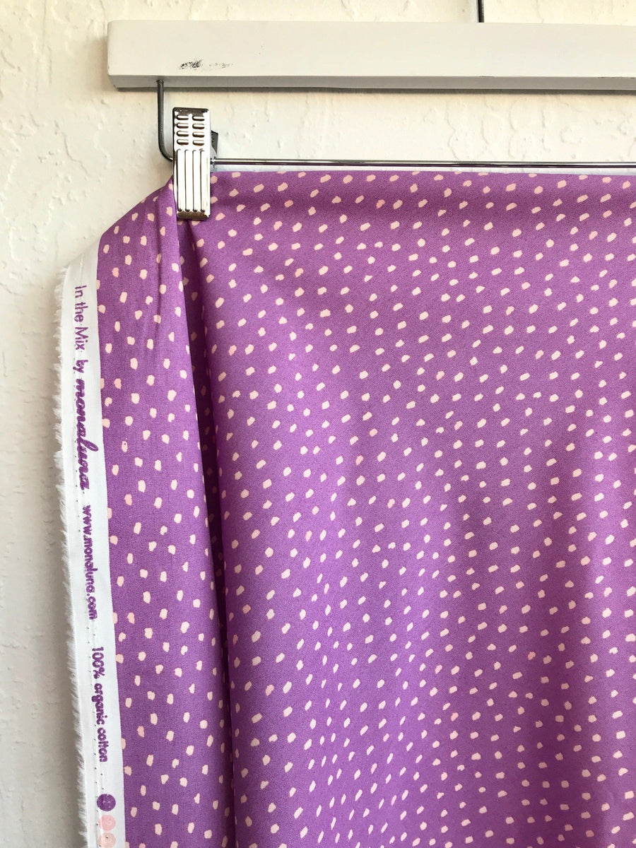 Magic Creatures - Dots in Lavender | Organic Poplin