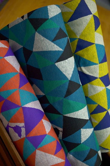 Triangles Blue Yellow | Jacquard Knit