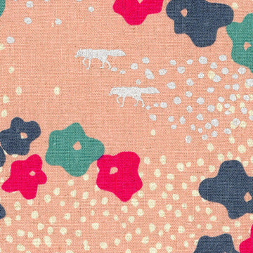 Floral in Pink Metallic | Canvas