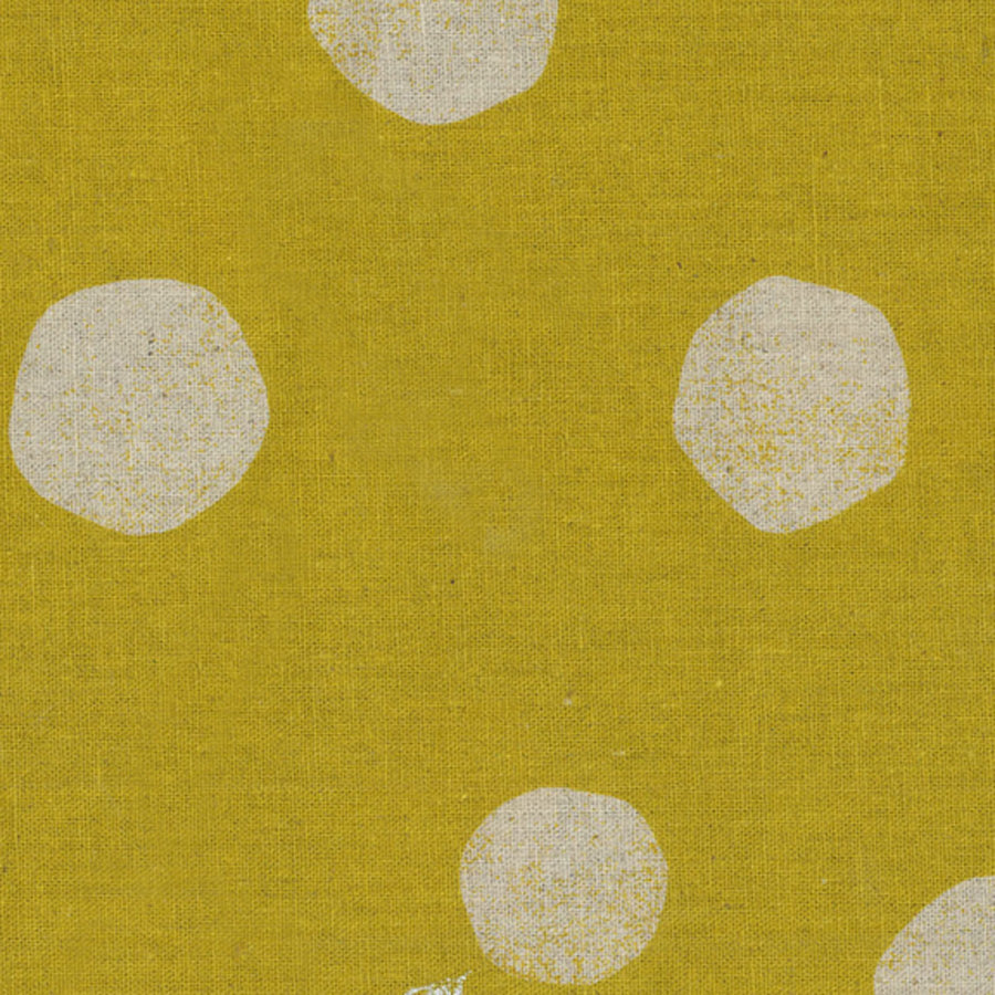 Large Dots in Mustard | Canvas