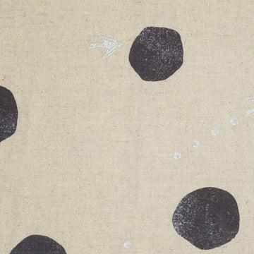 Large Dots in Natural | Canvas