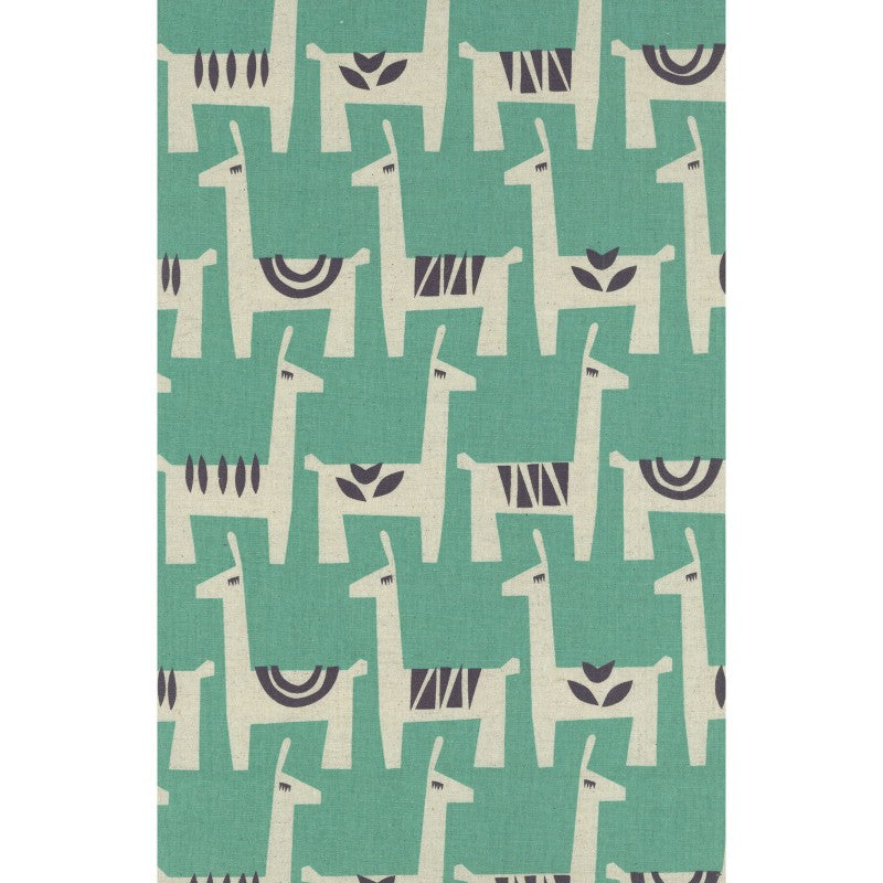 Llama in Turquoise | Canvas