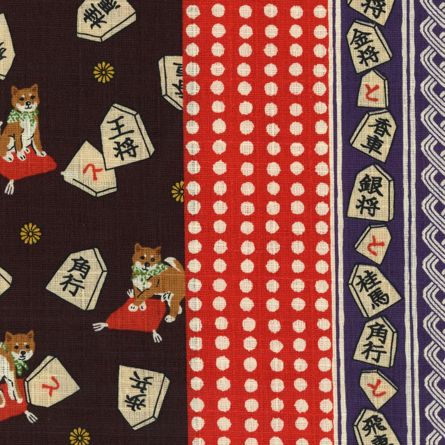 Japanese Traditional Prints - Shiba Inu Patchwork | Dobby