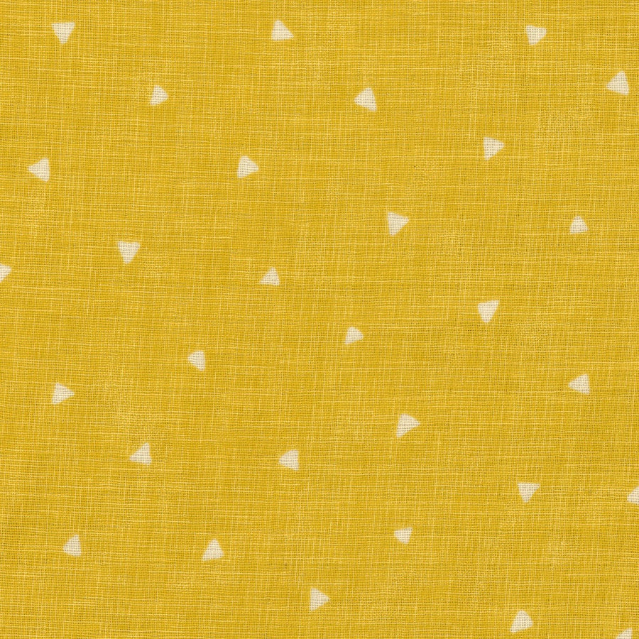 Dots Triangles in Yellow | Double Gauze