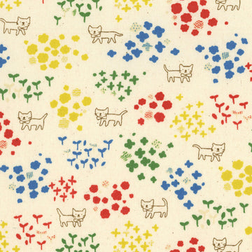 Floral Kitty | Oxford Cotton