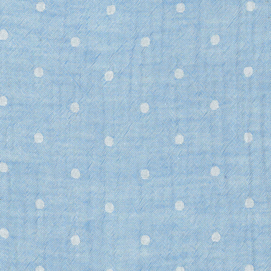 Solid Dots Light Denim Blue | Double Gauze