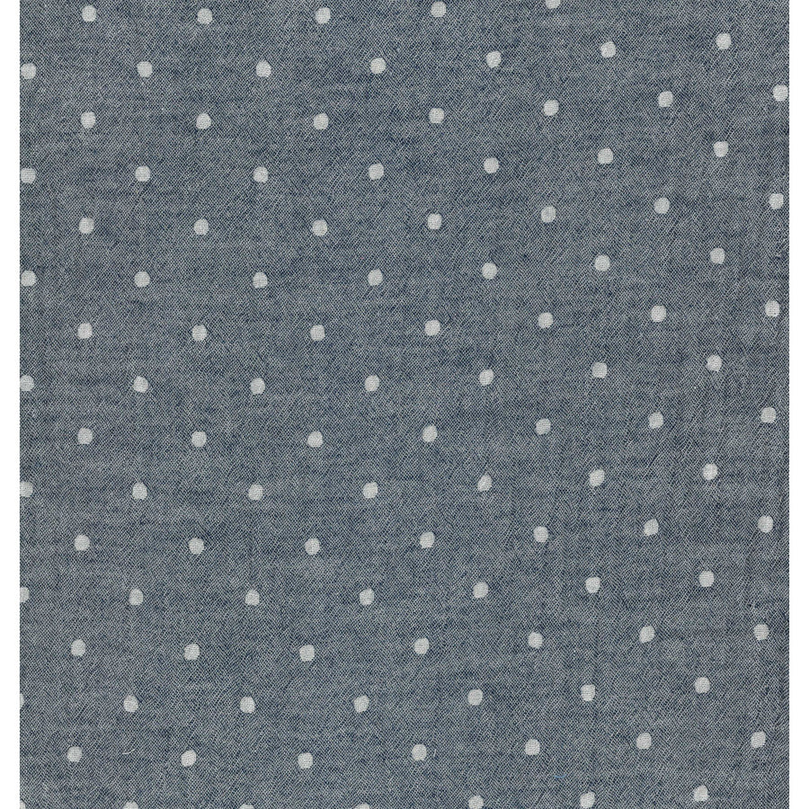 Solid Dots Dark Blue | Double Gauze