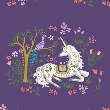 Magic Creatures - Unicorn Dreams | Organic Poplin