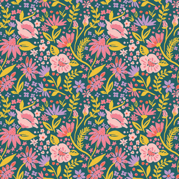 Magic Creatures - Forest Flowers | Organic Poplin