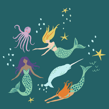 Magic Creatures - Mermaid Party | Organic Poplin