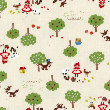 Chibi Pri Red Riding Hood in Cream | Oxford Cotton
