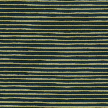 English Garden - Painted Stripes in Navy Metallic