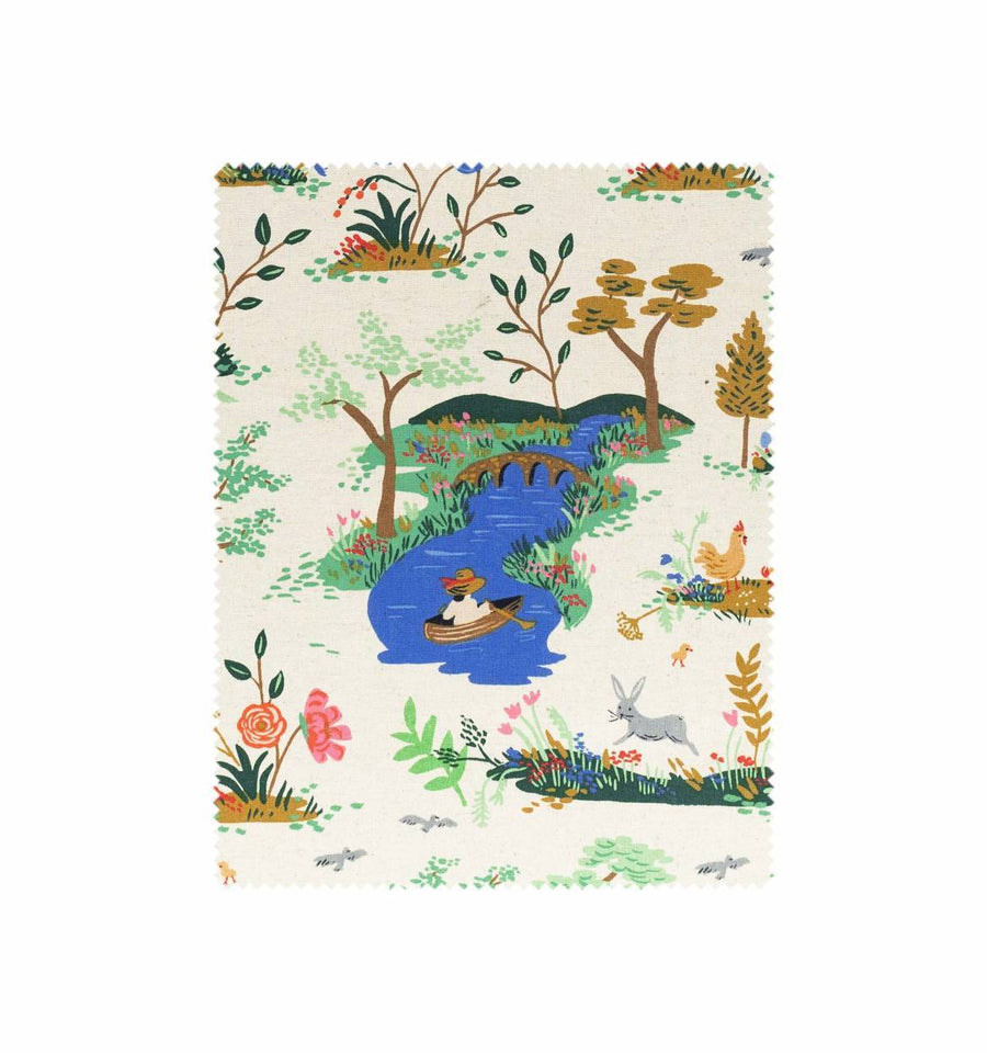 English Garden - Garden Toile in Cream | Canvas