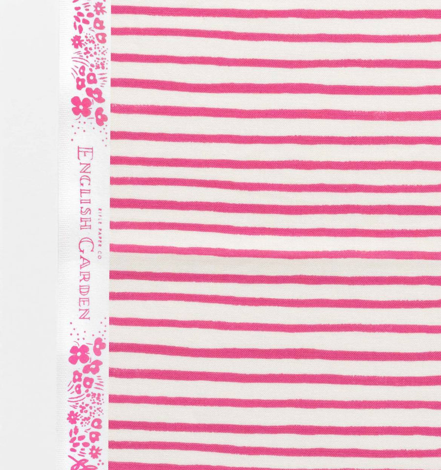 English Garden - Painted Stripes in Pink