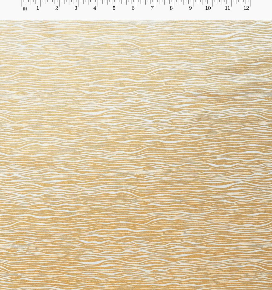 Wildwood - Faux Bois in Cream Metallic