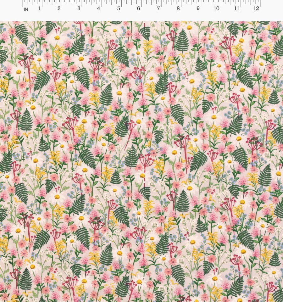 Wildwood - Wildflowers in Pale Rose | Cotton Lawn