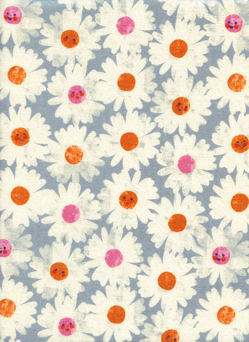Cotton + Steel Fabric, RJR Fabric, Cotton Steel DOUBLE GAUZE, Floral Gauze Fabric, Trinket Happy Garden Frost, Melody Miller, Baby Fabric