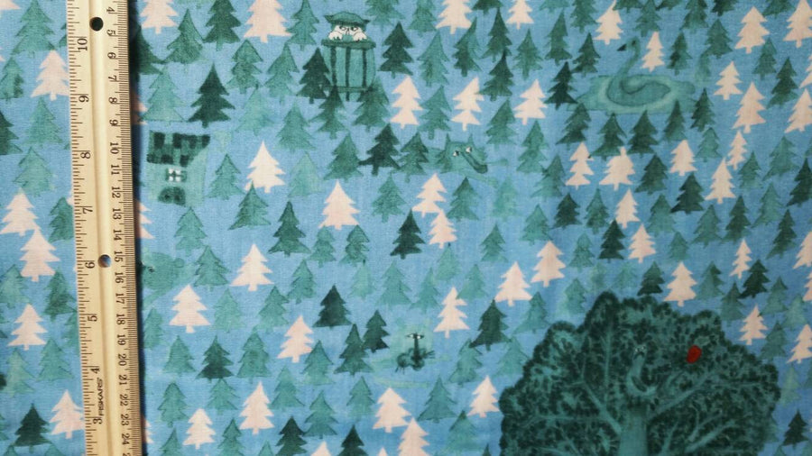 Blue Christmas Fabric