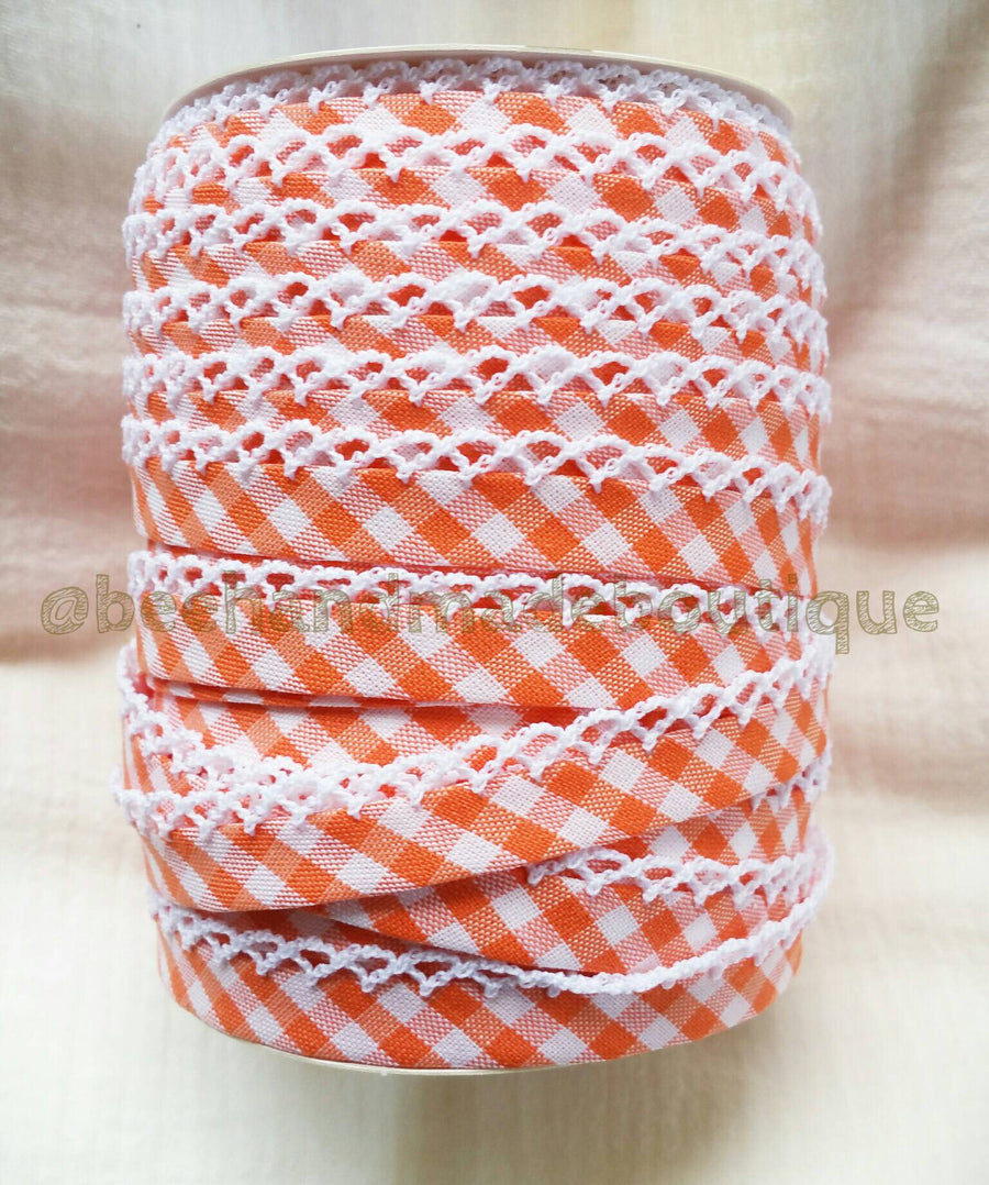 Orange Crochet Trim