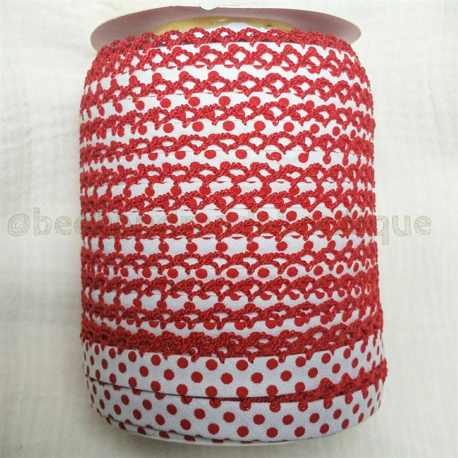 Red Polka Dot Bias Tape