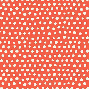 Red Polka Dot Organic Cotton Poplin