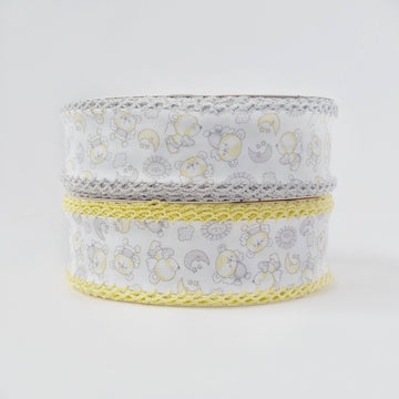Yellow Gray Crochet Bias Tape
