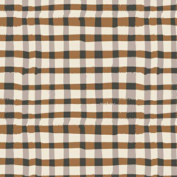 Brown Plaid Fabric