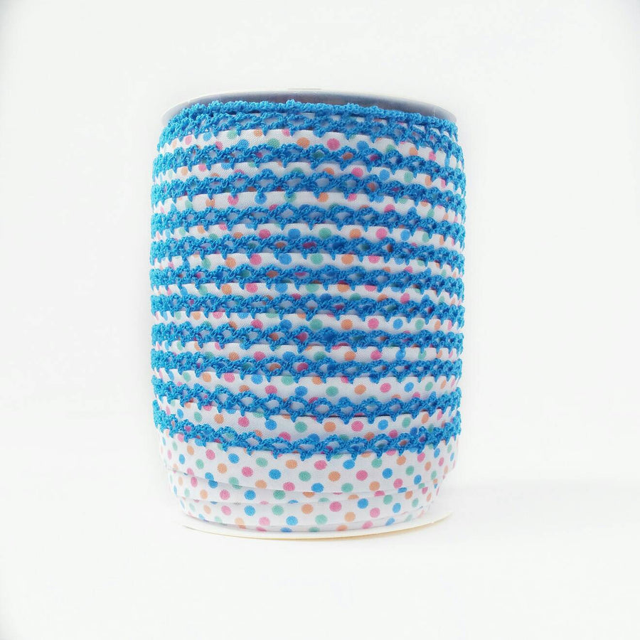 Polka Dot Crochet Edge Bias Tape