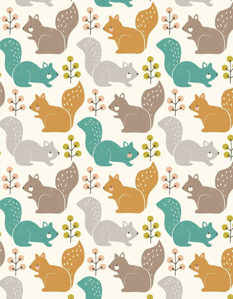 Squirrels Fabric
