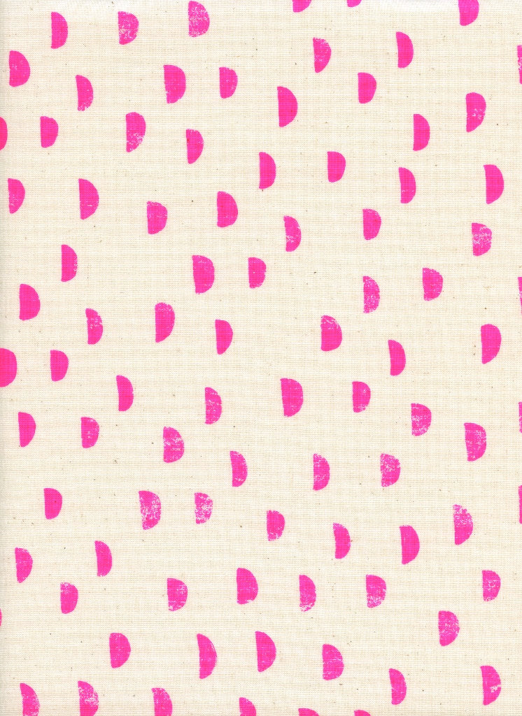 Cotton + Steel Print Shop Moons Neon Pink