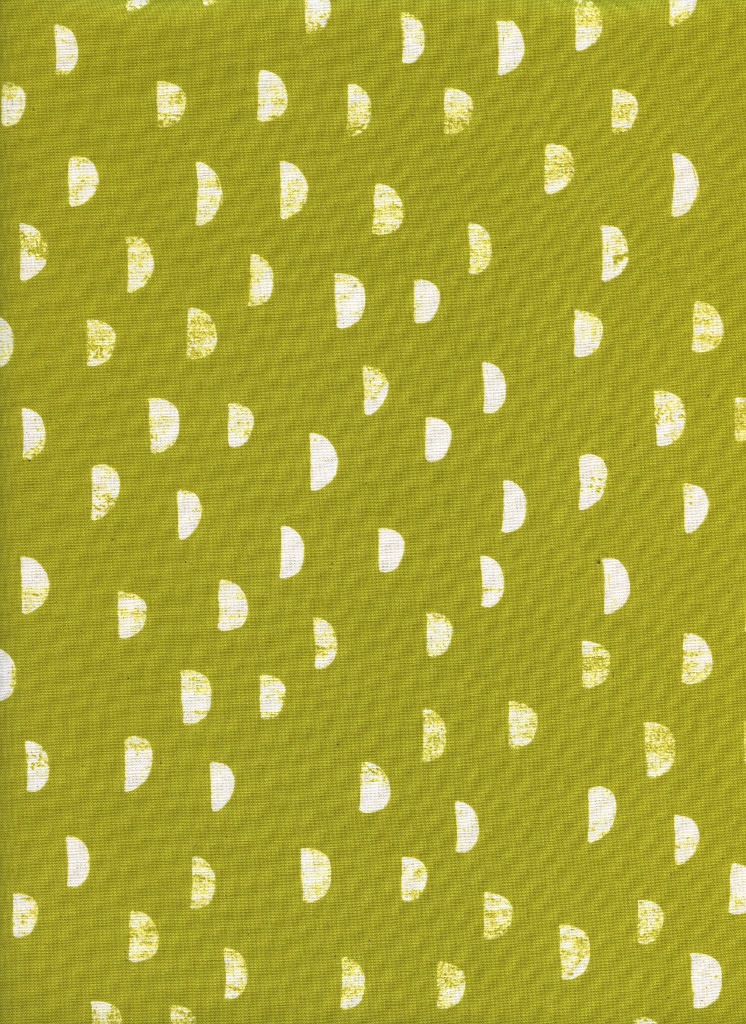 Cotton + Steel Print Shop Moons Grass Yellow
