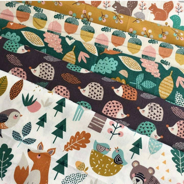 Harvest Wood Fabric Bundle