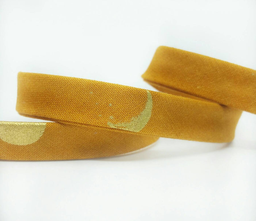 Mustard Metallic Bias Tape