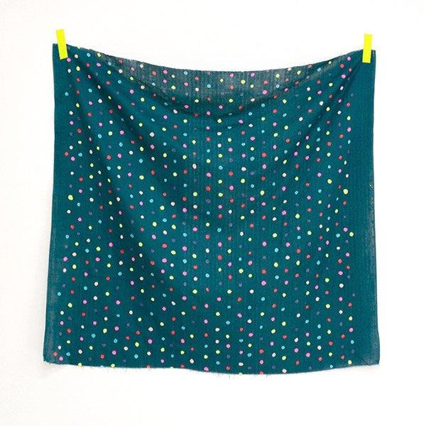 Colorful Pocho in Green Neon D | Double Gauze