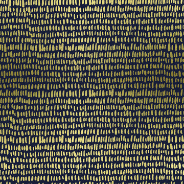 Wildwood - Hatchmarks in Navy Metallic | Cotton Lawn