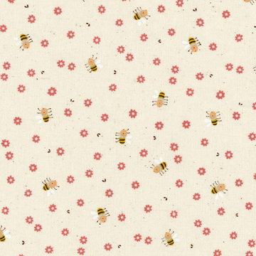 Bees in Red | Oxford Cotton