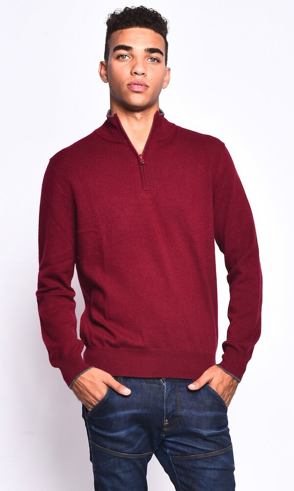 3VERY Classic 1/4 Zip w. Striped Accent