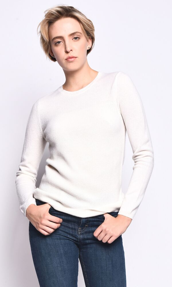 3VERY Women's 100% Cashmere Classic Multi Knit