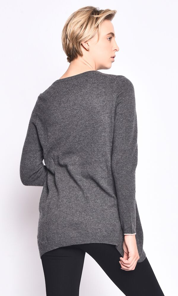 3VERY Women's 100% Cashmere Flare w/Inside Accent